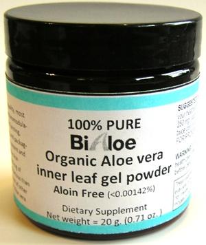 BiAloe® Pure Powder 20 g jar (80 servings)